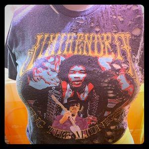 Jimi Hendrix crop top